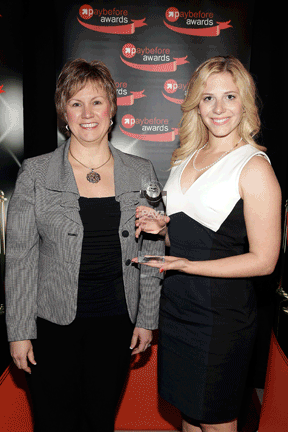 Outstanding Pay Solution-Program - Global Cash Card for Popeyes: Rachel Benning, MasterCard Worldwide, and Michelle Mandell, Global Cash Card