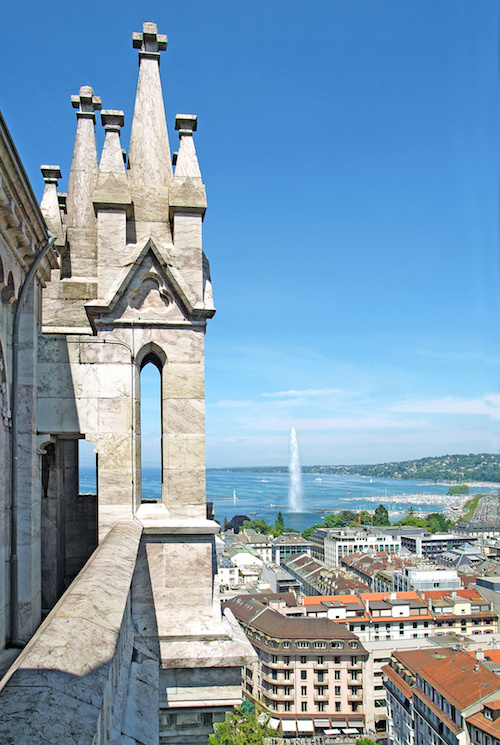 Geneva, the Leman Lake and the Water jet