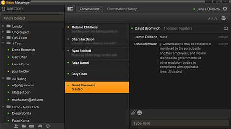 Thomson Reuters Eikon Messenger