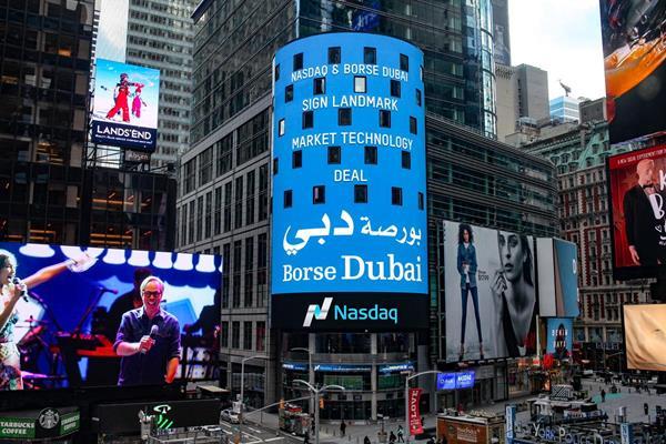 Nasdaq congratulates Borse Dubai (Credit: Nasdaq)