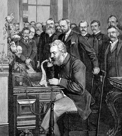 Alexander Graham Bell. Image source: Encyclopaedia Britannica