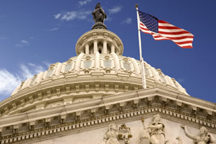 United_States_Capitol_Dome_and_Flag_DC