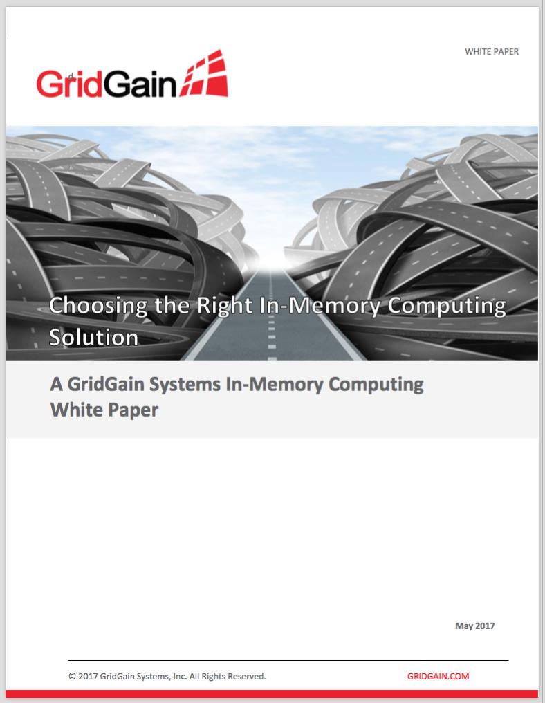 GridGain white paper 2017