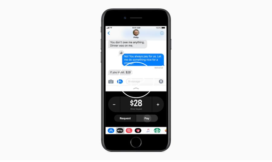 Apple unveils Pay Cash for P2P payments (Image source: Apple)