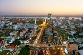 Yangon, home of CB Bank