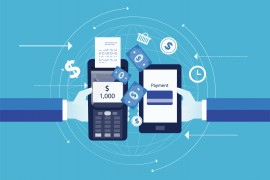 flat vector for business mobile payment concept and  digital marketing with business e commerce concept