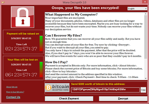 WannaCry (Source: Wikipedia)