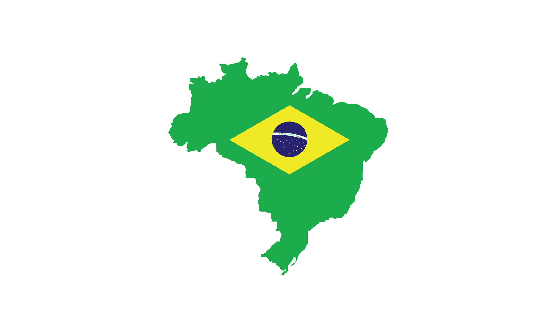 Brazil flag superimposed over country outline on WhasApp pay story