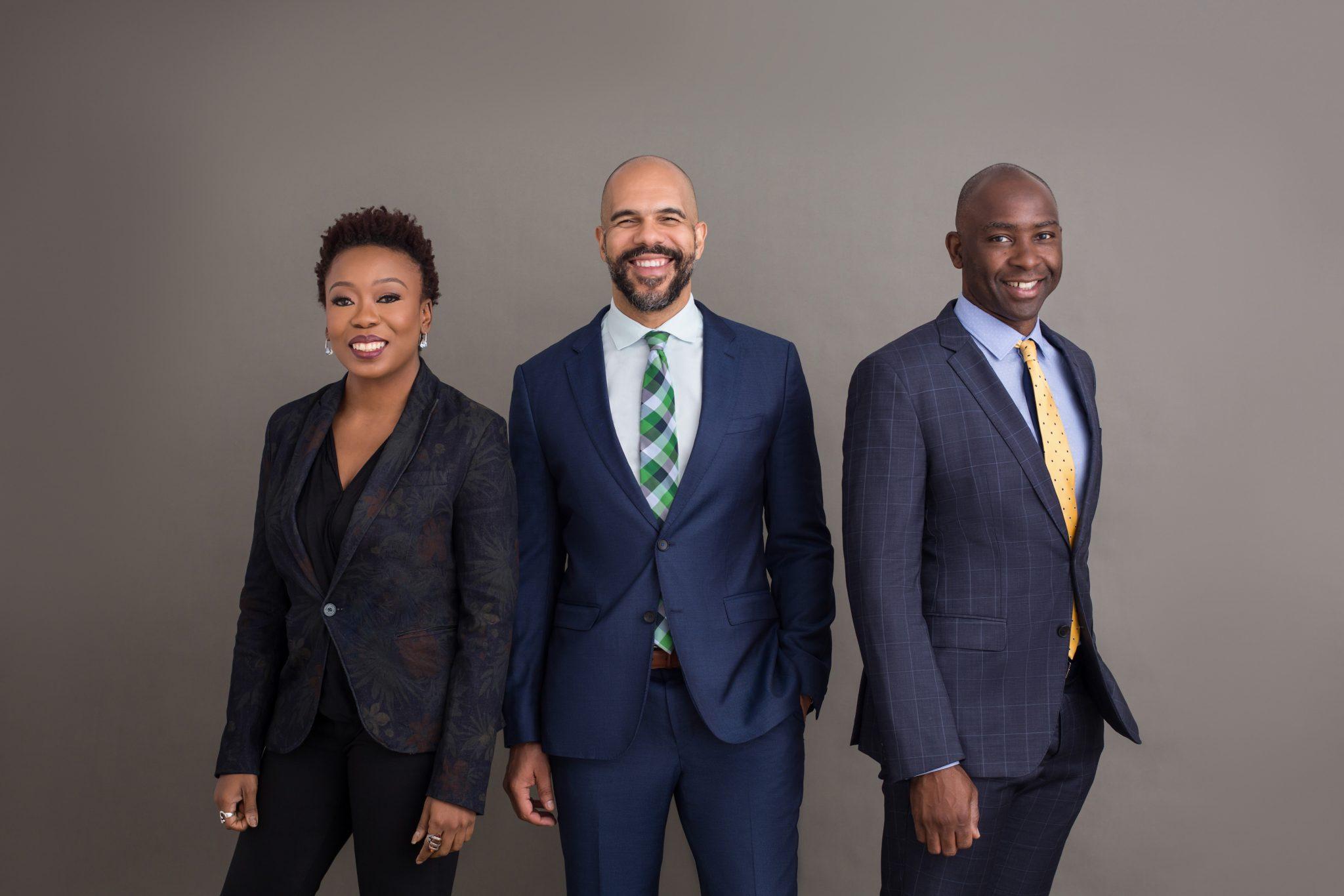 Mines' executives, left to right: Adia Sowho, Ekechi Nwokah, Kunle Olukotun