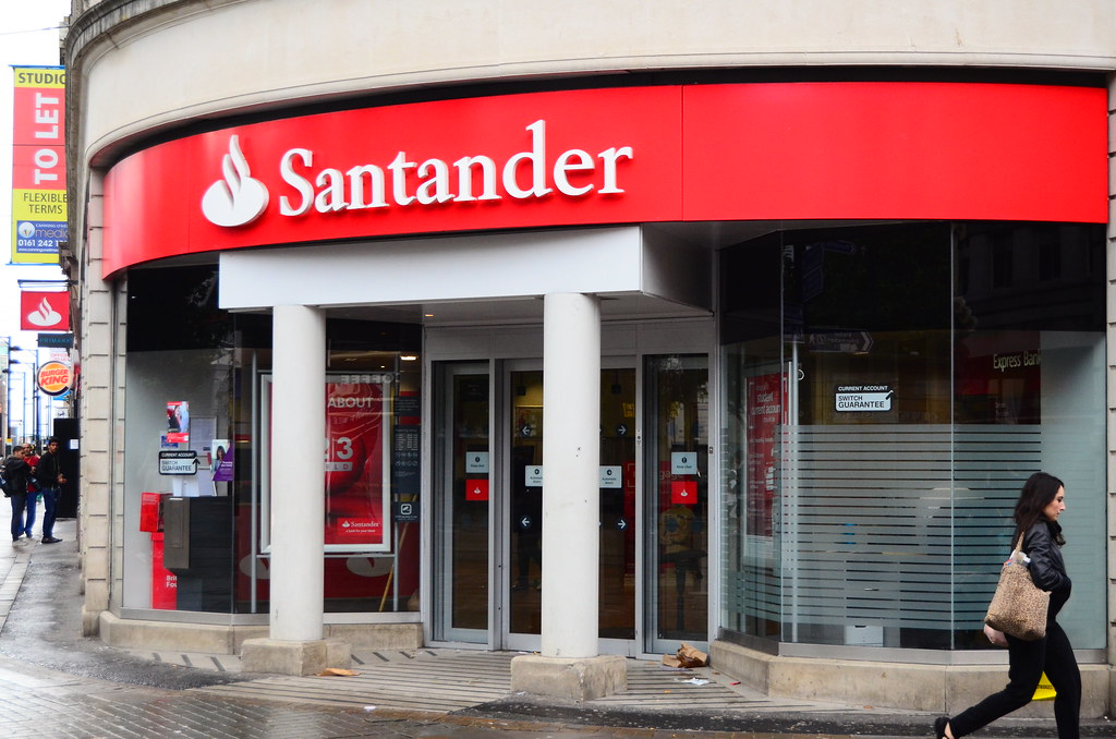 A Santander branch in a city