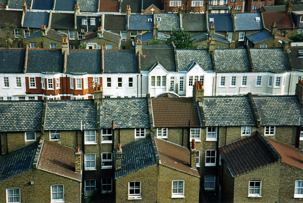 Rows of houses in London