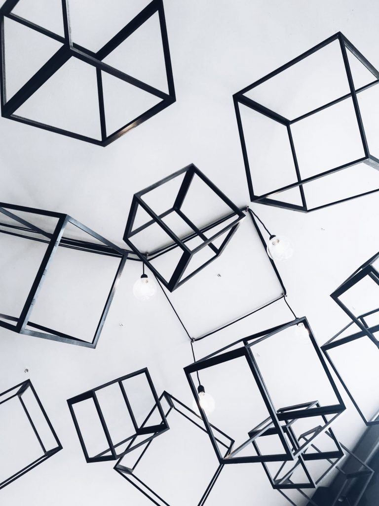 blocked cubes with light signifying blockchain