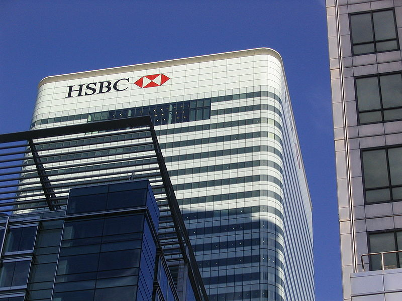 HSBC office in UK