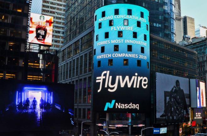 Flywire advert on Nasdaq