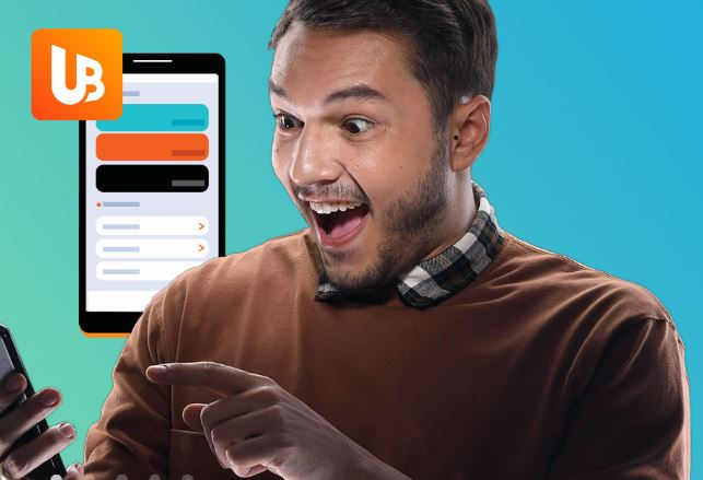 Philippenes based UnionBank app with man on phone