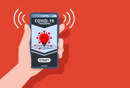 COVID-19 track and trace app concept for Santander story