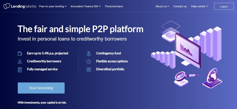 Lending Works website