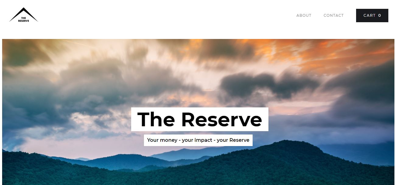 The Reserve web page