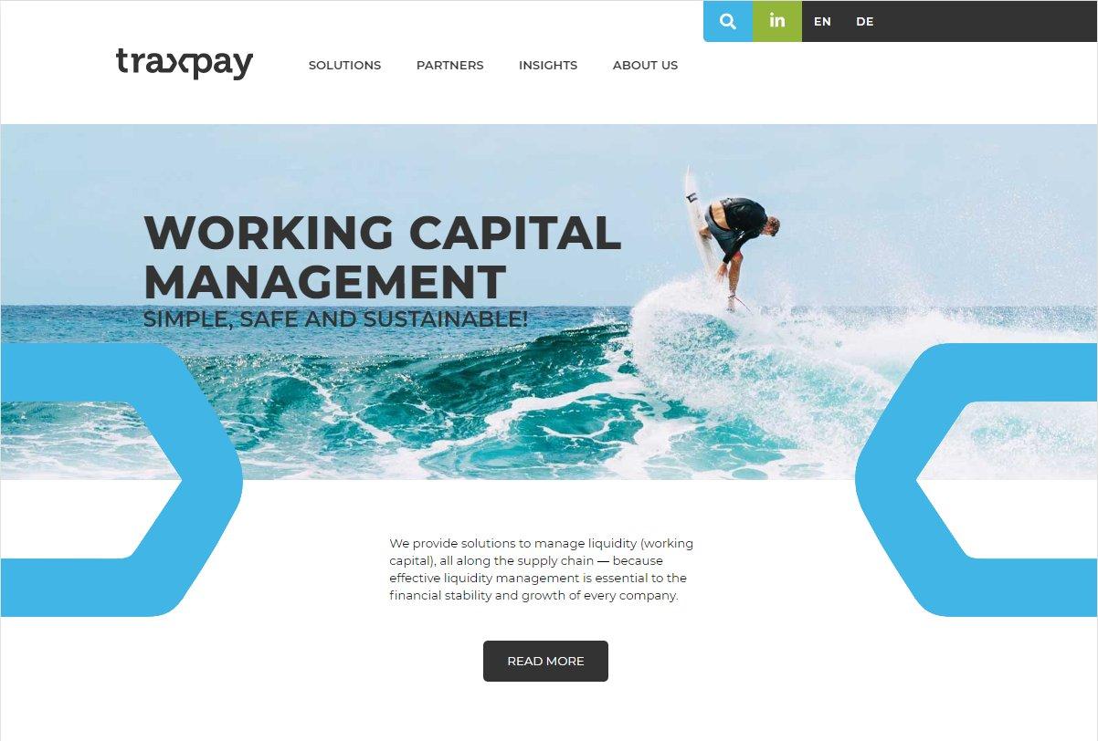 Traxpay web page