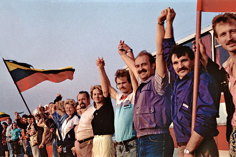 The Baltic Way human chain in 1989