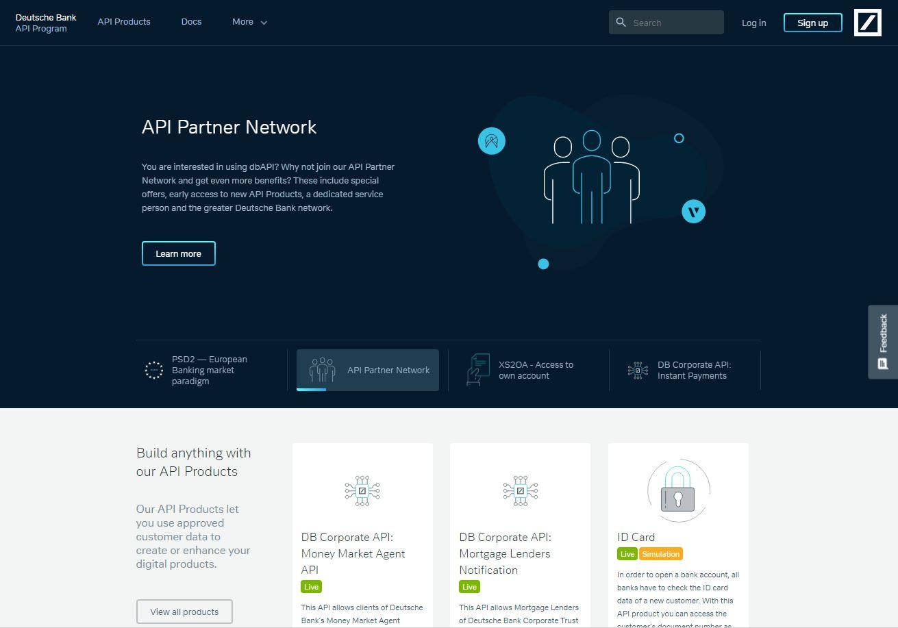 Deutsche Bank's API portal
