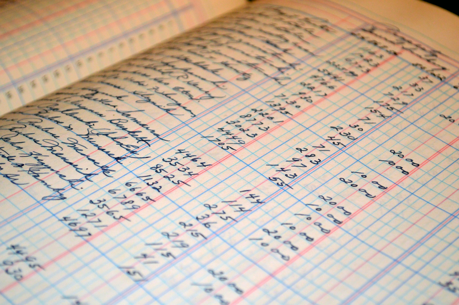 Image of an accounting ledger