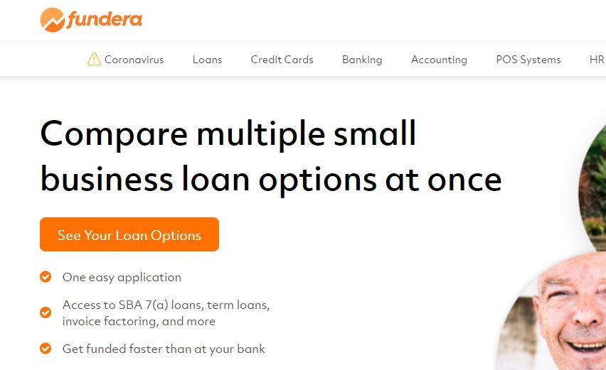 Fundera screenshot