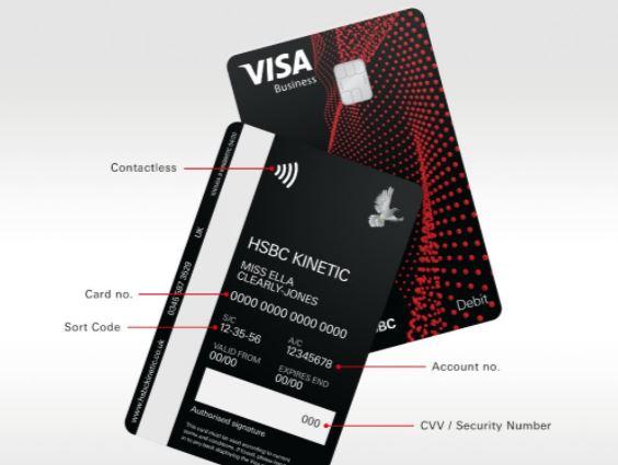HSBC Kinetic debit card