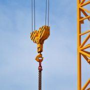 A crane in operation