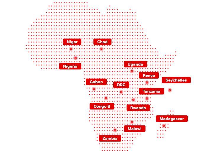 Airtel Africa map
