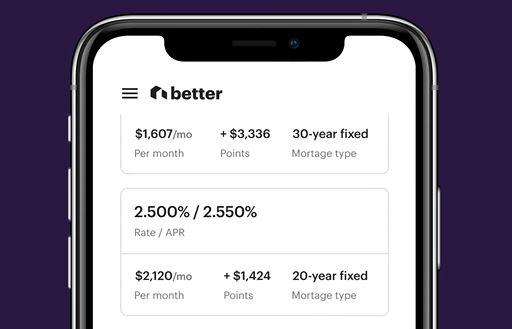 Better.com screenshot