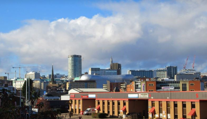 Birmingham city from the south